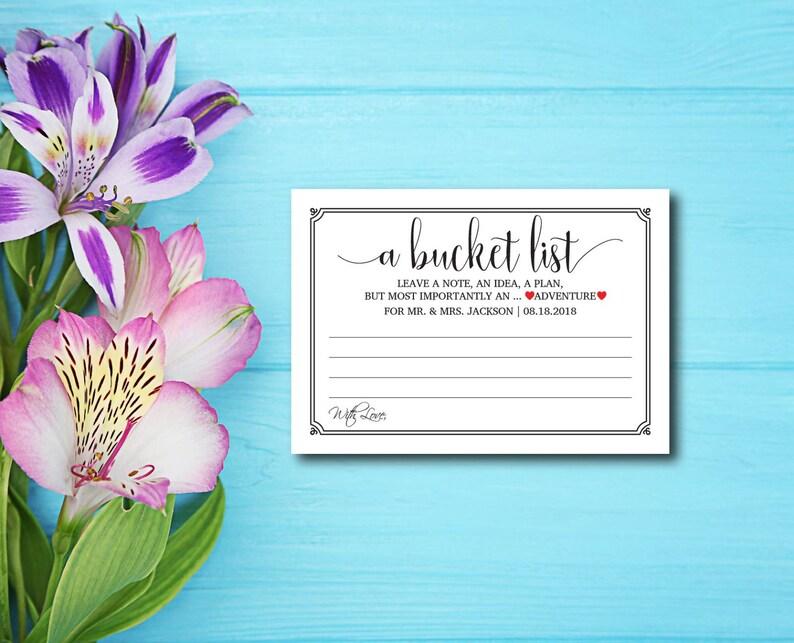 A Bucket List Rustic Kraft Letter DIY Wedding Advice image 0