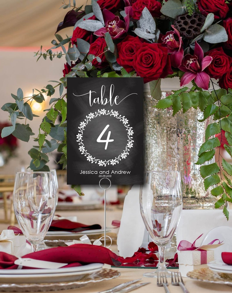 Wedding Table Number Card Seating Table Card Printable image 0