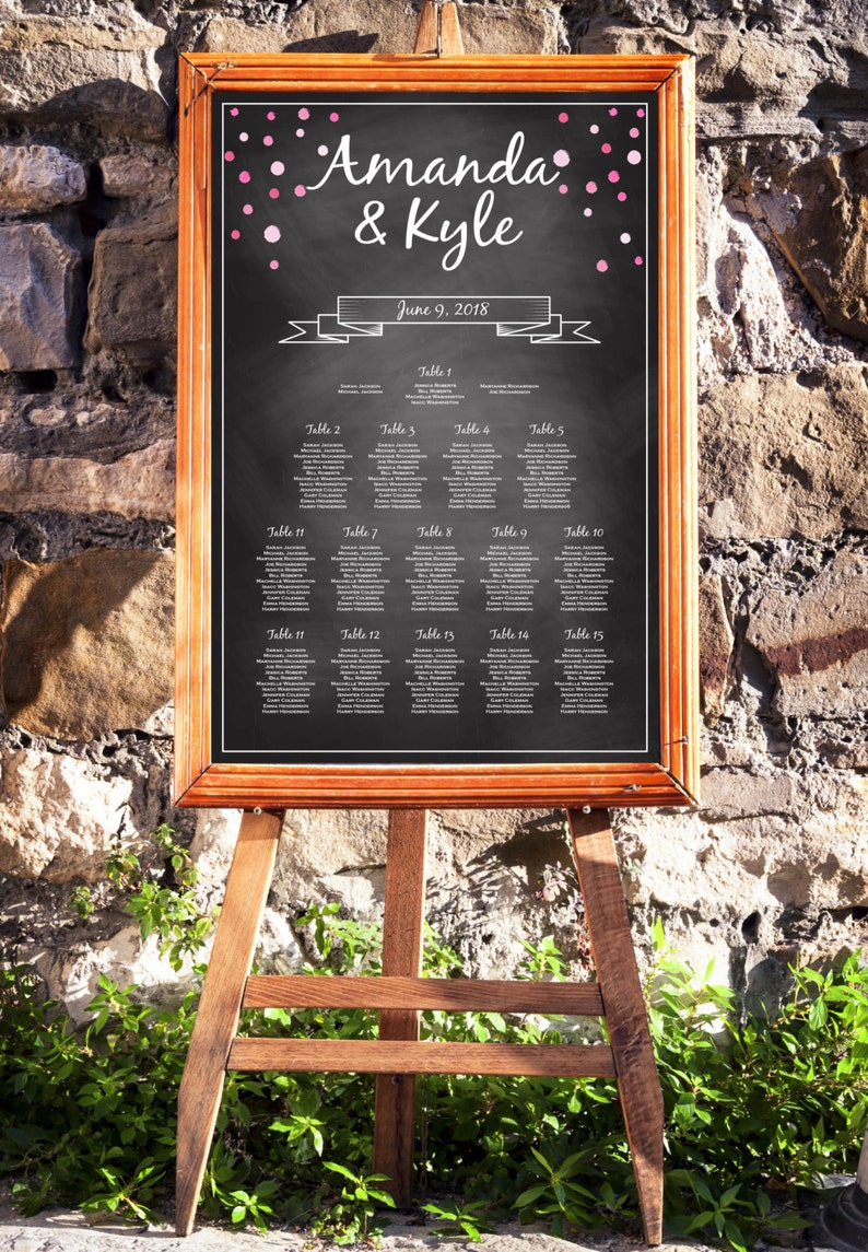 DIY Seating Chart Template Instant Download E10B Editable PDF Rustic Seating Chart Wedding Seating Chart Rustic Wedding Chalkboard