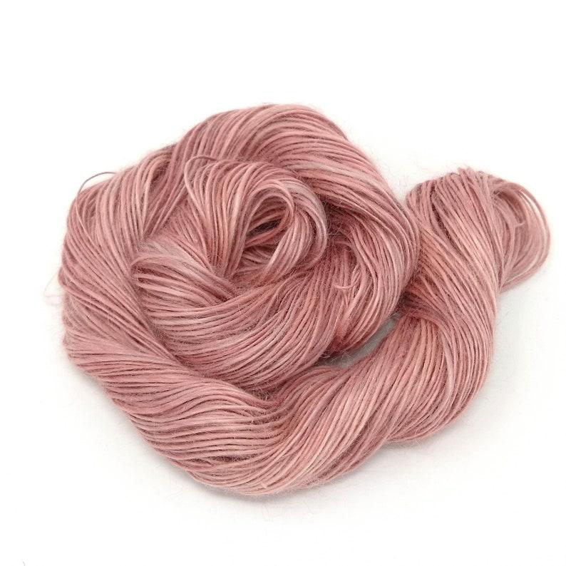 vegan light fingering weight naturally dyed Hand spun UK for knitting crochet weaving ramie yarn