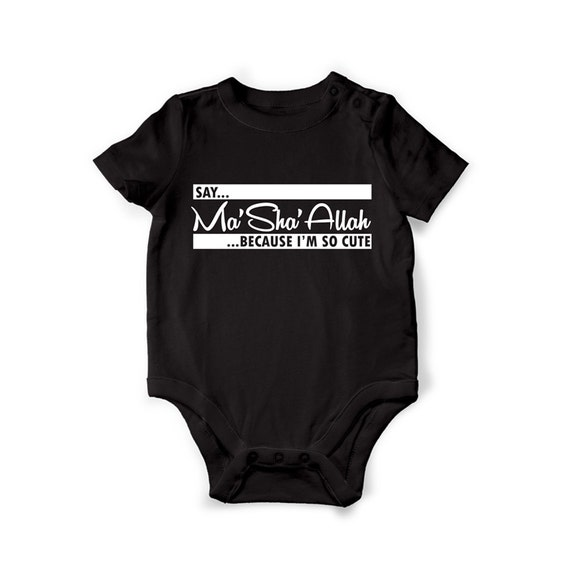 FUNNY MUSLIM BABY VEST GIFT COOL CUTE GROW BODYSUIT BOYS GIRLS IDEA NEW present
