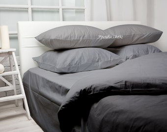 Grey bedding Gray bedding Gray Duvet Cover Bedding Set Grey duvet cover Grey bed sheet Bedding Mens bedding monogrammed bedding