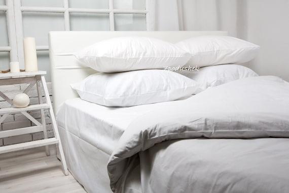 White Bedding White Duvet Cover White Sheets Set Whie Bedroom Etsy