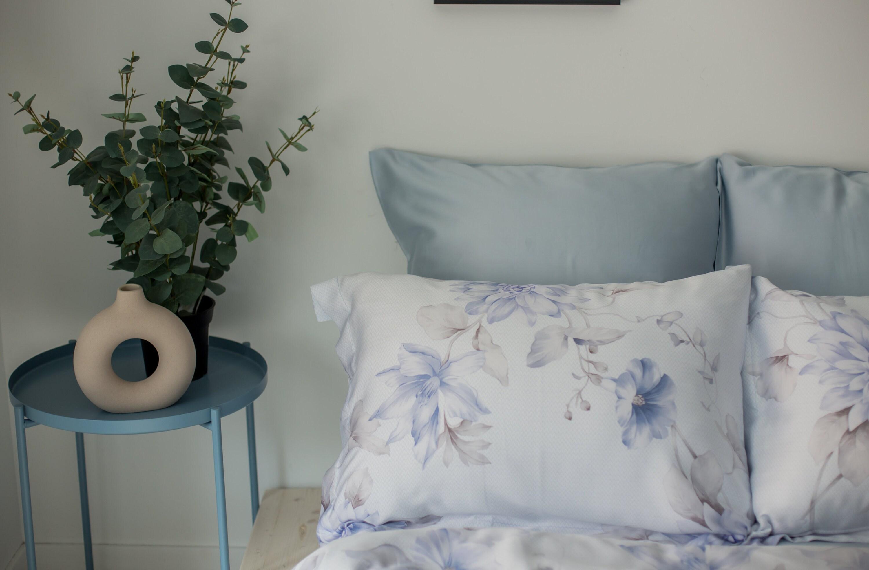 Blue Floral Bedding Duvet Cover Set Bed Sheets Bedroom Decor Etsy