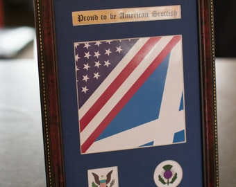 Proud to be American Scottish Frame - Scotland, Family, heritage, ancestors, history, gift