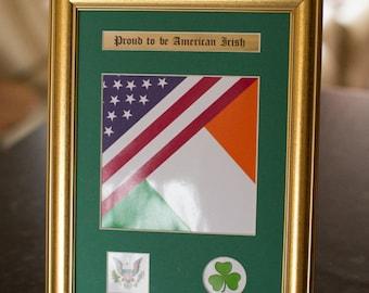 Proud to be American Irish Frame - Ireland,  Family, heritage, ancestors, history, gift