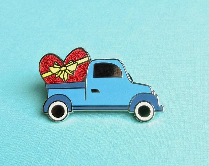 Featured listing image: ENAMEL PIN, Love Farm Truck