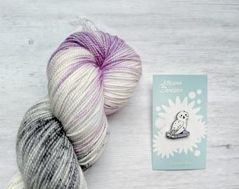 YARN/ENAMEL PIN Set, Night Owl