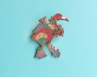 ENAMEL PIN, Flowering Flamingo