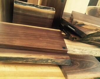 Live Edge Walnut Cutting Board and Chopping Block Slab