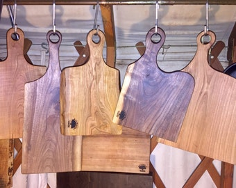 Live Edge Paddle Cutting and Cheese Boards