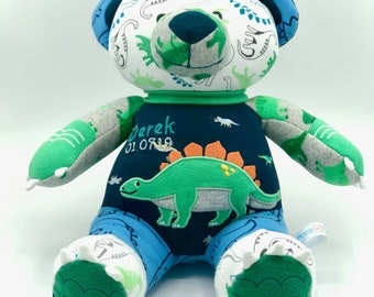 Keepsake Stuffed Bear made out of your favorite baby or adult outfits or clothes