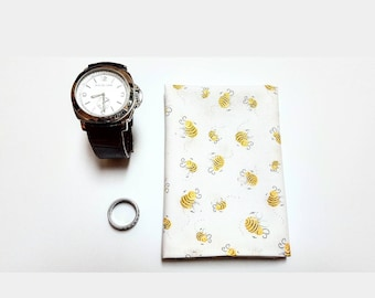 Bumble Bee Pocket Square, Hanky, Square, Suit and Tie, Cotton Handkerchief