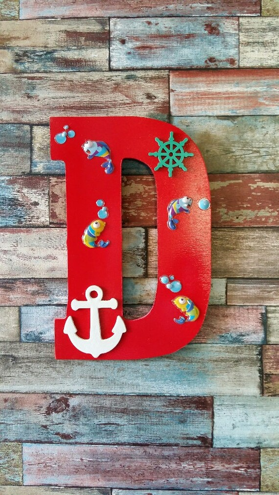 Home Decor Wooden Letter Wall Decor Letter D Nursery Decor | Etsy