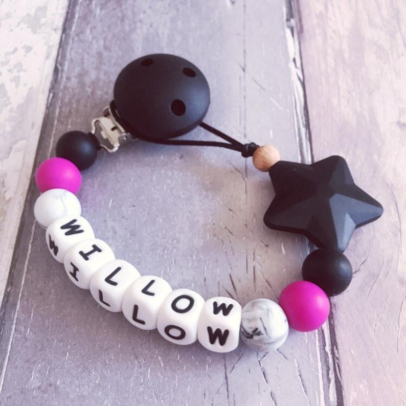 Schnuller Kette Halter Kautabletten Perlen Kinderkrankheiten Spielzeug