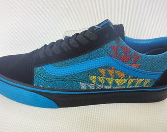 fb0c451d All Nations Skate Jam x Vans with Pendleton shoes turquoise old skools 2019
