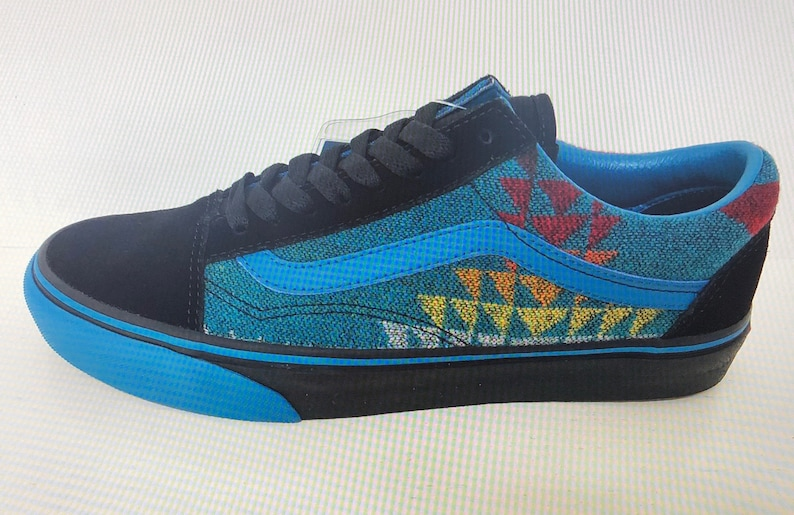 08f662a6fc44c All Nations Skate Jam x Vans with Pendleton shoes turquoise old skools 2019