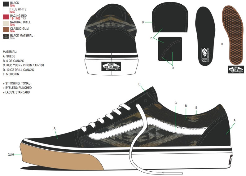 d28379514b614 All Nations Skate Jam x Vans with Pendleton shoes black old skools 2019