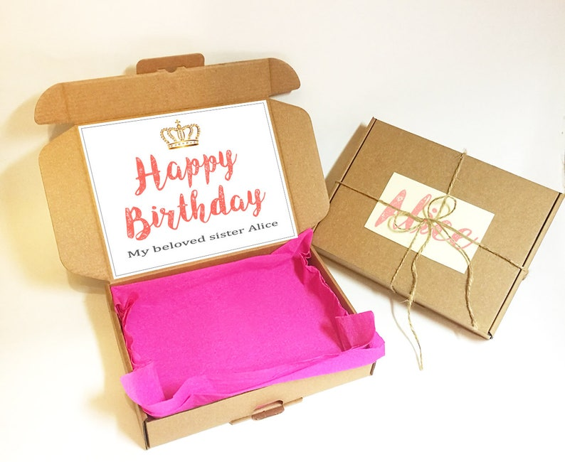 Personalized Birthday Gift Box Happy For Women