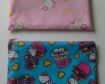 050913acd Hello Kitty Fabric zipper pencil bag