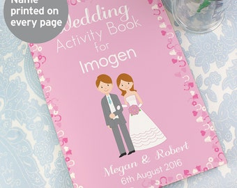 Personalised Wedding Activity Book for Bridesmaids