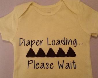 Baby/Toddler Loading Diaper Onesie