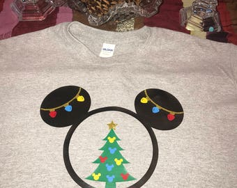 Merry Christmas Mickey Inspired T-Shirt (Many Sizes , Styles, and Colors)