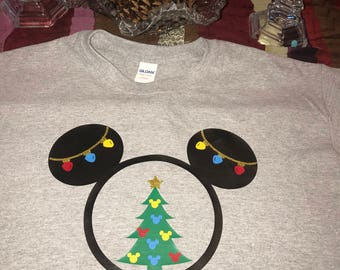 Child/Youth Merry Christmas Mickey inspired t-shirts (Many Sizes , Styles, and Colors)