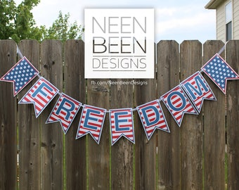 Freedom Banner Digital Download