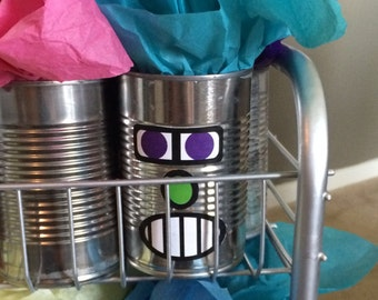 Mix and Match Robot Faces for Favors and Decorations Digital Download