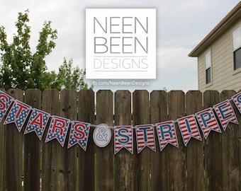 Stars & Striped Banner Digital Download