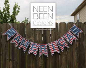 America Banner Digital Download