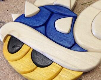 Wooden Mario Kart Blue Shell