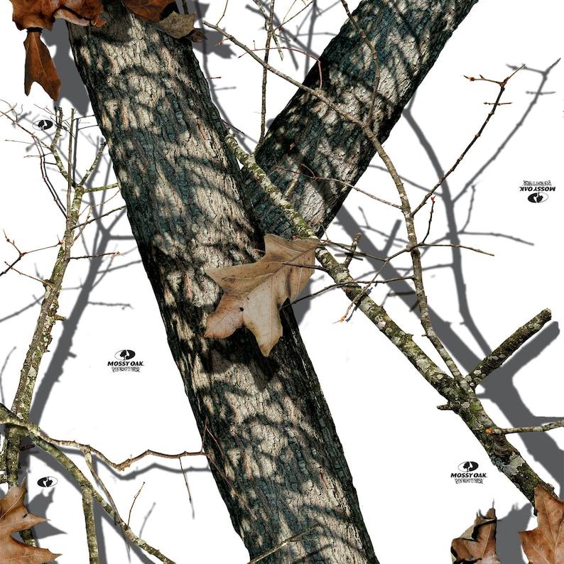 Peel And Stick Camo Vinyl Wallpaper In Mossy Oak Winter Camo Etsy