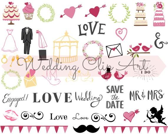 Wedding Digital Clip Art Wedding Planner Wedding Stickers Etsy