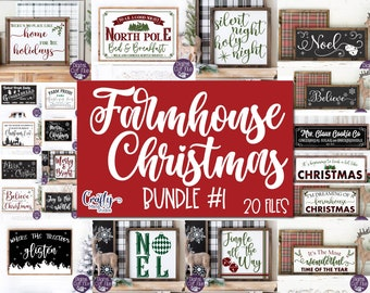 Farmhouse Christmas Svg Bundle, Farmhouse Sign Svg Bundle, Christmas Sign Svg, Svg Files for Cricut, Digital Download, Printable Wall Art