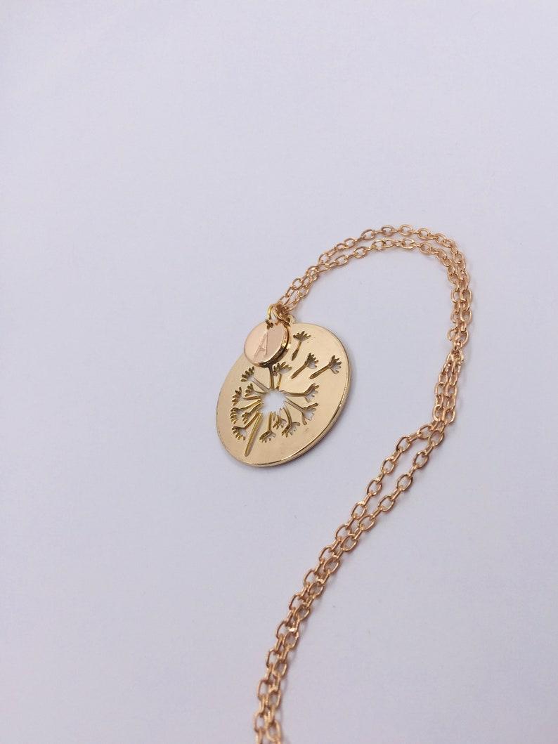 Cut Pendant Dandelion Personalized gold