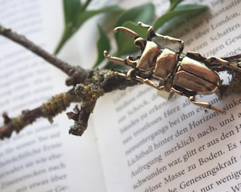 "Ring ""stag beetle"" gold"