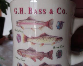 Fishing Mug G.H. Bass & Co. Catch and Release Mug Rainbow Trout Reel Fisherman's  Cup