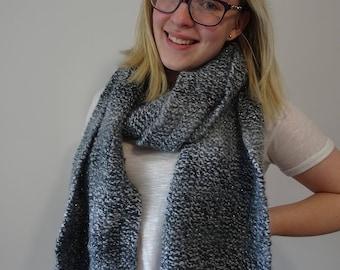Black & Grey Knit Scarf