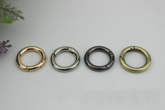 4 JEWELRY CLASPS *SILVER METAL* ROUND SPRIING CLASPS • 16mm • SPRING RING CLASP