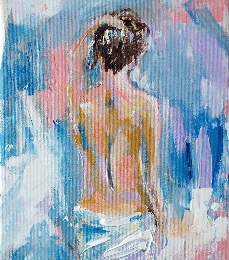 Femme Originale Abstraite Peinture Sur Toile Acrylique Femme Etsy