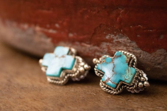 Royston turquoise Earrings, Turquoise Earrings, St