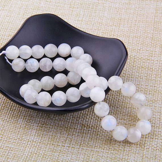 JJG 186 Pieces 2 Strands Natural Stone Beads Black Matte Agate Beads Round Loose Beads for Jewelry Making DIY Bracelet Necklace 4mm