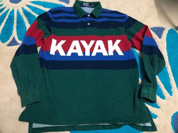 Vintage 1992 Polo Ralph Lauren Kayak Rugby Hip Hop