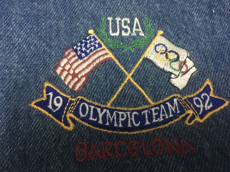 Rare Vintage RALPH LAUREN Olympic Team 1992 Barcelona Denim  4adbb9ee8bd0d
