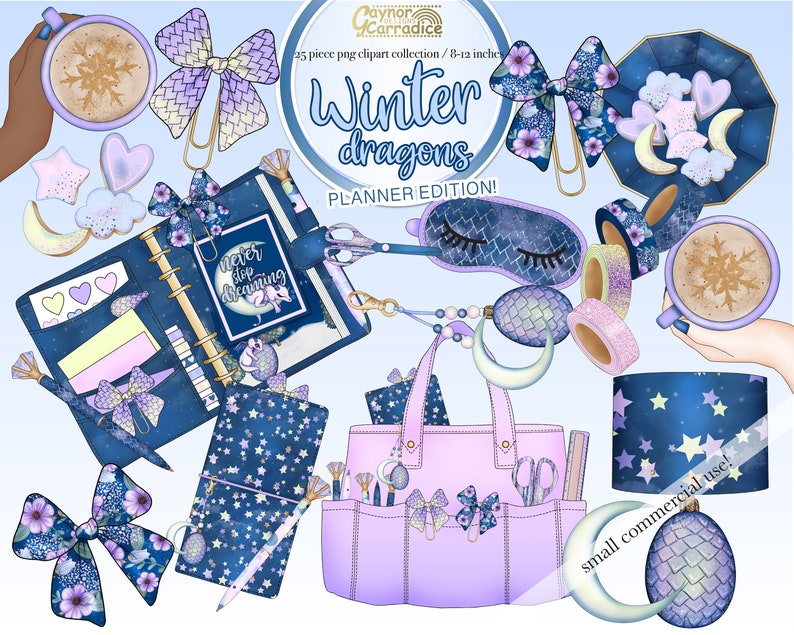 bow clip high quality png purple stationery graphics washi tape flatlay bow clips 25 piece dragon clipart Winter planner clipart