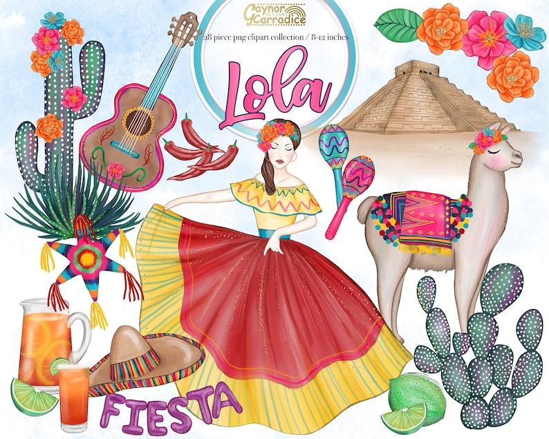 c8e3a4b4f98c Cinco de Mayo clipart 28 piece Mexican clip art fiesta