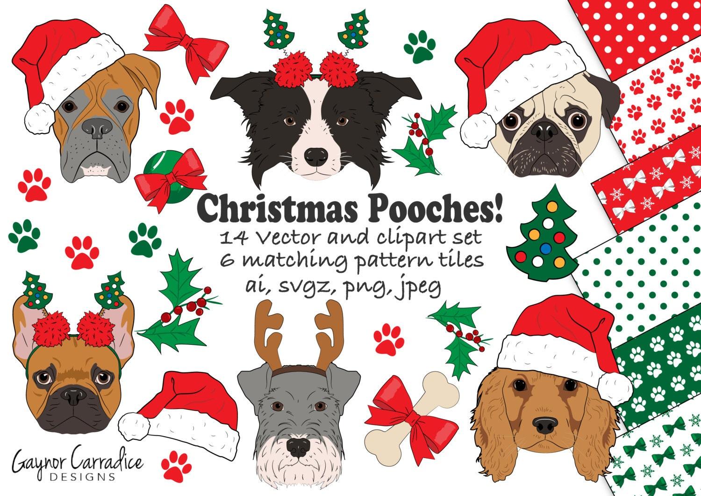 Christmas dogs clipart Christmas dogs clip art Christmas ...