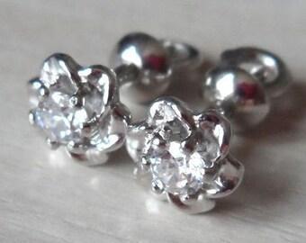 Designer sterling silver large flower stud earrings for sensitive ears daisy